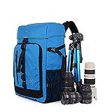 YAAGLE Rucksack SLR Kameratasche wasserdicht Damen und Herren Unisex groß Fassungsvermögen Reisetasche Schultertasche Gepäck-blau