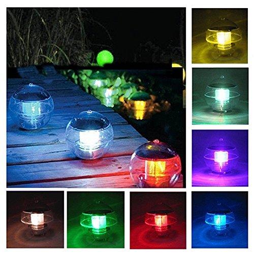 Miya solarbetriebene schwimmende Lampe Solar Laterne Wasserball Licht bunte LED Nachtlicht wasserdichte Neuheit Lichtsensor Farbwechsel wasserdichte Balkon Hofweg Solarlicht.