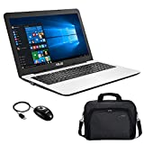 "Asus R556YI-XX302T PC Portable 15,6"" Blanc (AMD A6, 4 Go de RAM, Disque Dur 1 To, AMD Radeon R5 M320 1G, Windows 10) + Sacoche et Souris Inclus"