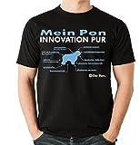 Siviwonder Innovation Liste PON Hund Hunde Polnischer Niederungshütehund Polski Owczarek Nizinny - Unisex T-Shirt Shirt Schwarz XL
