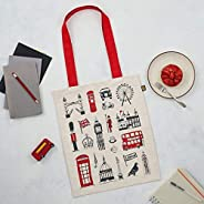 Reusable canvas shopping tote bag, Made in Britain