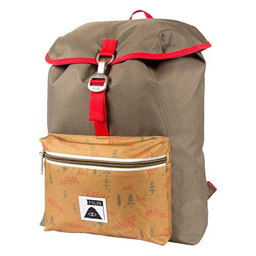 POLER Rucksack Bag Field Pack, Burnt Olive, 50 x 40 x 6 cm, 14 Liter, POLBAG_FIE