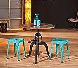 Inter Link 85300460 Esszimmertisch Esstisch Küchentisch 75 cm rund Mango Metall Tisch Design shabby Test