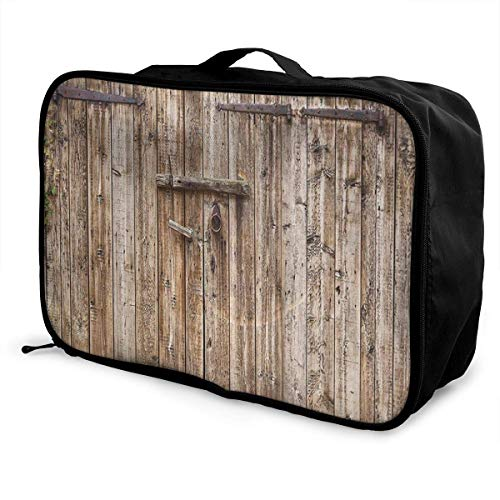 Koffertaschen Old Oak Closed Garage Door Young Men and Women School Luggage Bag Lightweight Large Capacity Portable Holiday Travel Bags Tote Duffel Carry-on in Trolley Holiday Suitcase Bags -