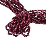 Sharplace 128 Piezas Piedra de Rubí Natural/Granos de Perla para Bodas, Fiesta de Cumpleaños y Decoración de Hogar