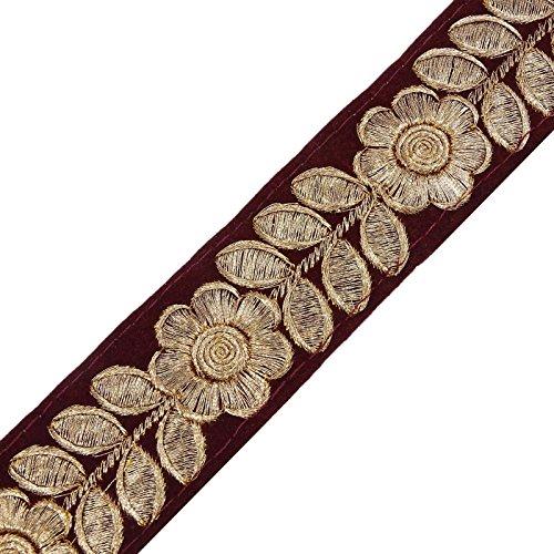 Rote Band Trimmen Dekorative Handwerk 4,0 Cm Breit Indischen Sari Grenze Spitze Durch Den Hof