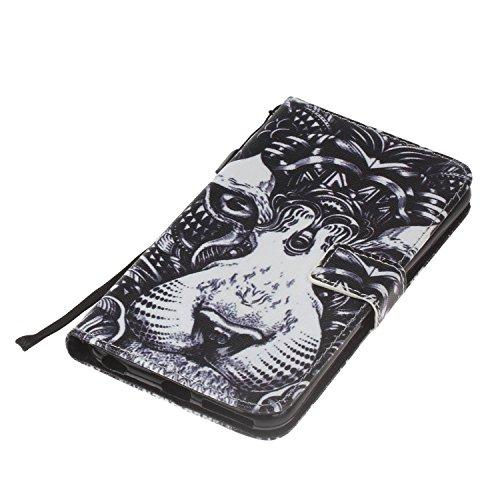 Cover iPhone 6 / 6S Plus 5.5 Flip Case Morbido Portafoglio Custodia in Pelle PU , MAGQI Telefono Porta Carte di Credito Titolare Pittura 3D Shell Protettivo - Cenerentola E Il Palloncino Re di Leone
