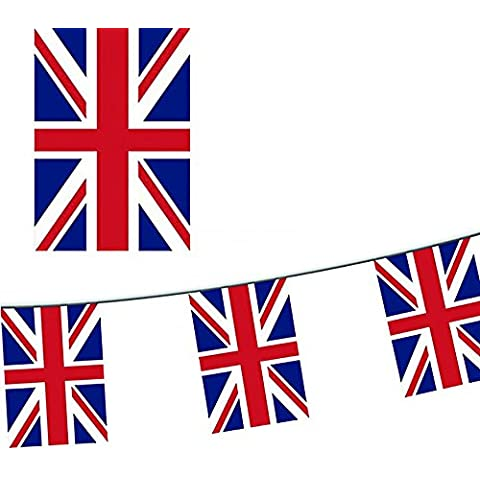 100metre Union Jack PVC Doubled-sided British External Bunting UK Events, Sporting Events, Summer Fairs, Parties, Royal Visits and Celebrations by Party Heaven