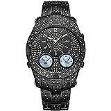 JBW Jet Setter III Reloj DE Hombre Diamante Cuarzo Suizo 46MM J6348D