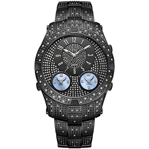 JBW Men's Jet Setter III Diamond 46MM IP Steel CASE Swiss Quartz Watch J6348D