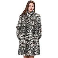 Adelaqueen Donne Animal inverno Vintage Stampa Faux