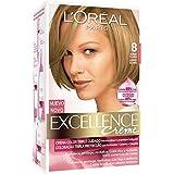 L'Oréal Paris Coloración Excellence Crème Triple Protección 8 Rubio Claro - 268 gr