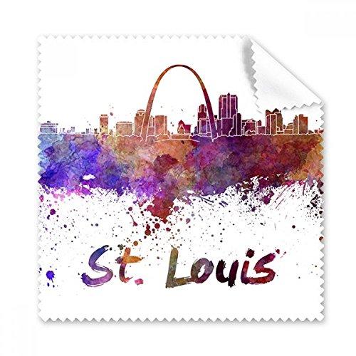 St. Louis Amerika Land City Watercolor Illustration Gläser Tuch Reinigungstuch Geschenk Handy-Display von 5x