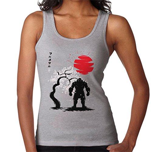 Cloud City 7 Fullmetal Alchemist Alphonse Elric Japanese Style Women's Vest Heather Grey