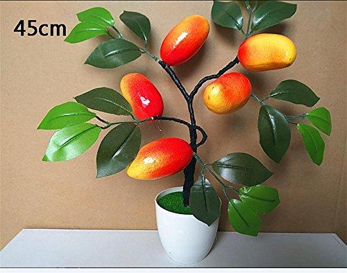artificial Bonsái Bonsai sintético decorativo Artificial flor de la planta con Potted Decoración tabla sala estar afortunada Feng Shui Decorativa árboles floración , #104