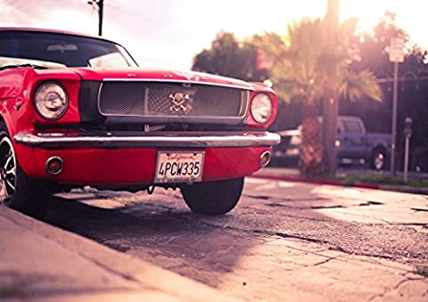 Poster Ford Mustang 1969 Warm Classic Red Car Wall