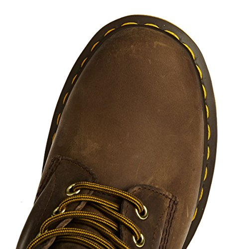 Dr. Martens 1460 Milled Smooth, Scarpe Stringate Basse Brogue Unisex-Adulto Brown