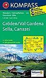 Gröden /Val Gardena /Sella /Canazei: Wanderkarte mit Aktiv Guide und Radrouten. GPS-genau. 1:25000. Dt. /Ital. (KOMPASS-Wanderkarten, Band 616) -