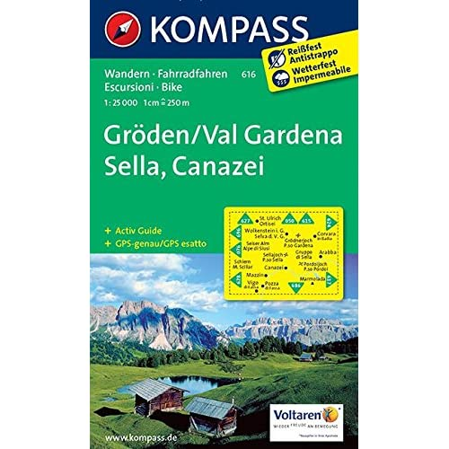 Carta Escursionistica N. 616. Val Gardena, Sella, Canazei 1:25.000. Adatto A Gps. Digital Map. Dvd-Rom