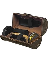 Kit cera para zapatos 5 piezas lujoso en estuche de piel - kit de viaje