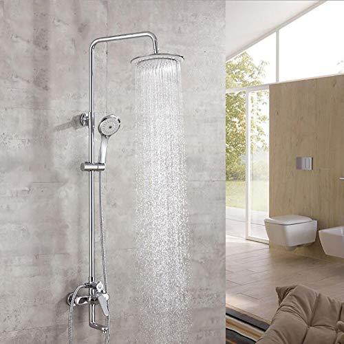 Duschset modernes One-Touch-Duschsystem 8 Zoll Kopfbrause + Handbrause + Wasserhahn