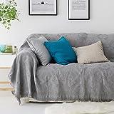 AMCER Einfarbige Farbe Doppel Sofa Baumwolle Gewebte Decke, Bohemian Retro Tapisserie Sofa Sessel Mehrzweckdecke