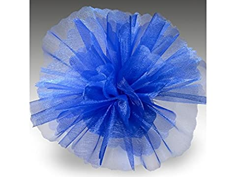 Organza Tulle Circles Crystal Pack of 50 Standard Royal Blue