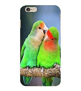 ColourCraft Love Birds Design Back Case Cover for APPLE IPHONE 6S PLUS
