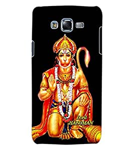 ColourCraft Lord Hanuman Design Back Case Cover for SAMSUNG GALAXY J7