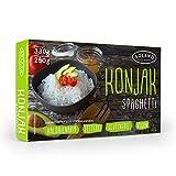 Solano Konjaknudel im 5er-Set, Konjak-Spaghetti aus der Konjakwurzel hergestellt, Low Carb Pasta, die Shirataki Nudeln sind vegan, fettfrei, glutenfrei, kalorienarm und eignen sich gut für Diäten