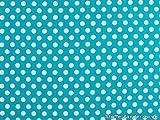 Baumwollstoff mit Punkten, 0,8cm, türkis-blau, ca. 135cm