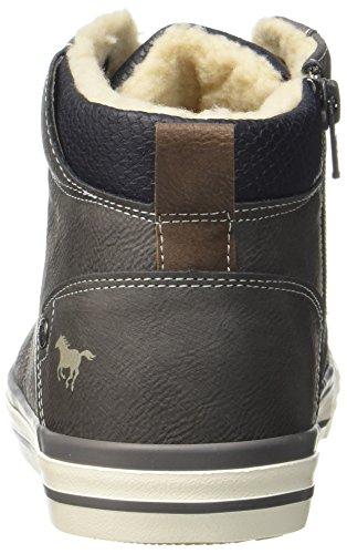 Mustang 4103-601-20, Sneaker a Collo Alto Uomo Grigio (Dunkelgrau)