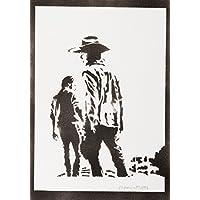 The Walking Dead Carl Und Rick Handmade Street Art - Artwork - Poster