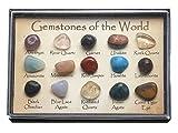 JOVIVI Naturstein Set Heilstein 15x verschieden Edelsteine Trommelsteine Formlos Natural Gemstones getrommelt Steinset 0.25-0.3 Zoll