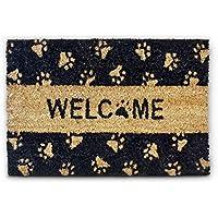 Relaxdays 10016750 Zerbino per Ingresso, con Scritta Welcome, in Fibra di Cocco, Base Antiscivolo in PVC, 60 X 40 X 1.5 cm, Marrone e Nero - Arredamento - Confronta prezzi