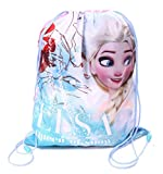 IMTD Girls Official Disney Frozen Sisters Princess Elsa Anna Environmental Drawstring Bag Swimming PE Bag