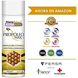 PROPOLIS - Propóleo masticable con Miel, Vitamina C y Tomillo - Protege y Aumenta las defensas y el sistema inmunológico - Propiedades antibacterianas y antibióticas - 120 comprimidos masticables