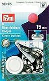 Prym 323215 Überziehbare Knöpfe MS 15 mm, 6 Stück, VE 5, silberfarbig