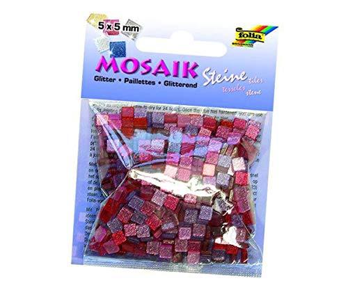 Mosaiksteine Mit Glitter 5x5mm. 700 Stück, Folia Bringmann