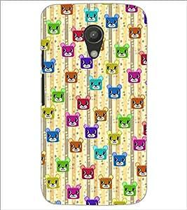 PrintDhaba Cartoon Pattern D-4050 Back Case Cover for MOTOROLA MOTO G2 (Multi-Coloured)