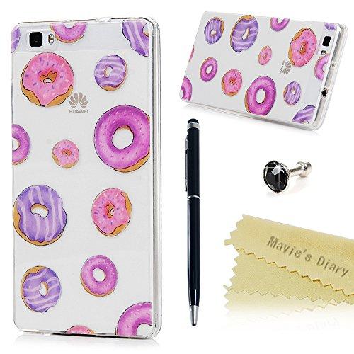 maviss-diary-huawei-p8-lite-cover-gemalt-rosa-lila-donuts-muster-tasche-tpu-softcase-hullen-schutzhu