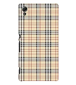 Checks Pattern 3D Hard Polycarbonate Designer Back Case Cover for Sony Xperia Z4 :: Sony Xperia Z4 E6553