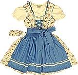 romantisches Lekra Kinderdirndl Felina 4-tlg. Komplett-Set, Größen:146;Farbe:flamingo - flieder