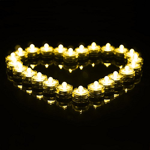 Impermeable de San Valentín/genérico día bajo el agua las luces LED de batería secundario té luz luces subacuáticas - púrpura