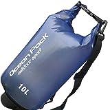 HCFKJ PVC wasserdichte Dry Bag Outdoor Sport Schwimmen Rafting Kajak Segeln Tasche (BLAU)
