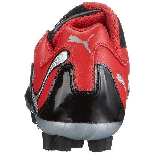 PUMA 101907 06 PowerCat 3.10 r MG, Herren Sportschuhe - Fußball Schwarz (Black-High Risk Red-Puma Silver)