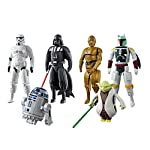 Ecomm Presents Emob Egg Force Star Wars Super Hero Action Figure Set (Darth Vader, Storm Trooper, R2-D2, Boba Fett, Yoda & C-3PO) : This Multipack Of Star Wars Action Figures Has Common Connection Points, Allowing You To Detach The Head, Arms, An...
