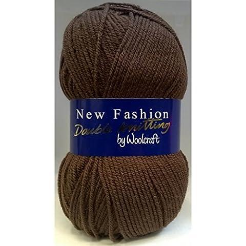 Woolcraft Neuf Mode Double Tricot Laine Acrylique/laine 100g - 892 Chocolat