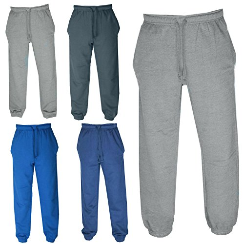 Mens Slim Fit Jog Pant Jogging Bottoms Trousers Joggers Cuffed Hem Slim Leg Warm