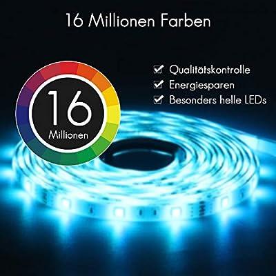 Jayol RGB LED Streifen Kit,10m, 16 Millionen Farben,steuerbar via App, SMD 5050 LED Stripes Kompatibel mit Alexa, Google Home, IFTTT,IP65 wasserdichte, Sync mit Musik,für Deko Party Weihnachten (RGB) von Jayol
